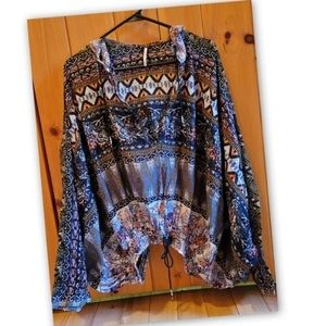 Free People Hold On Tight Boho Hooded L